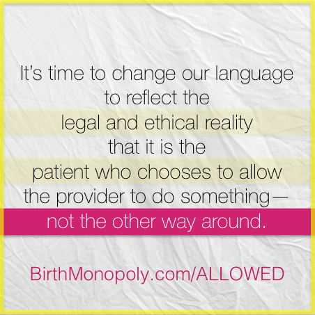 change our language birth monopoly